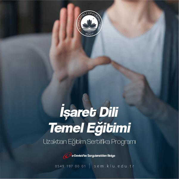 İşaret dili eğitimi, işitme engelli vatandaşların aralarında iletişim kurmaları için, el hareketlerini, jest ve mimiklerini kullandıkları görsel bir iletişim dilidir.